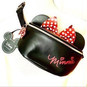 Disney Minnie Mouse Metallic Bow Fanny Pack